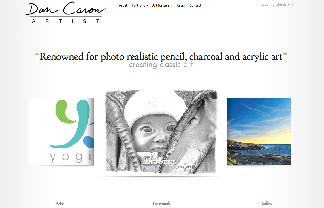 Dan Caron Artist – Website