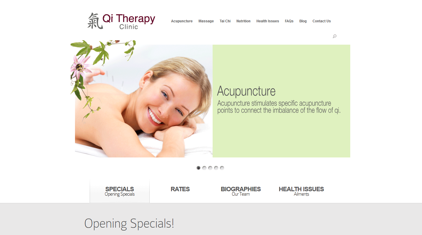 Qi Therapy Clinic – Website