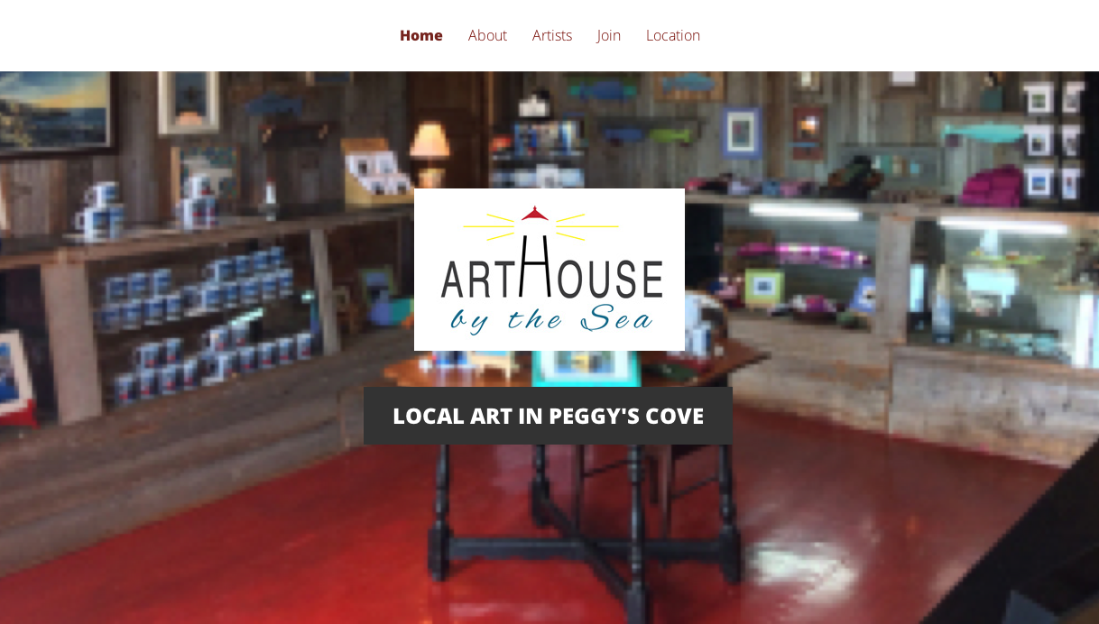ArtHouse by the Sea – Website